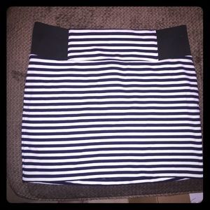 Navy Blue and White Striped Skirt ⚓️